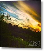 Yellow Blue And Green Metal Print by K Simmons Luna