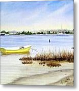 Yellow Boat I Metal Print