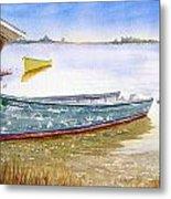 Yellow Boat II Metal Print