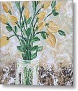 Yellow Bouquet Metal Print