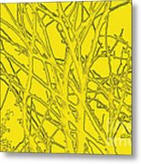 Yellow Branches Metal Print