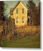 Yellow Brick Farmhouse Metal Print