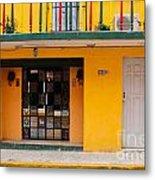 Yellow Buidling Mexico Metal Print