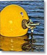 Yellow Buoy Metal Print