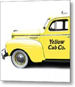 Yellow Cab Square Metal Print