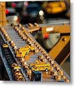 Yellow Cabs Metal Print
