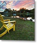 Yellow Chair Metal Print