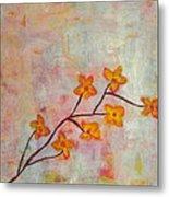 Yellow Cherry Blossoms Metal Print