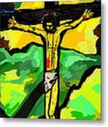 Yellow Christ  After Gauguin Metal Print