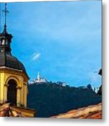 Yellow Church And Monserrate Metal Print