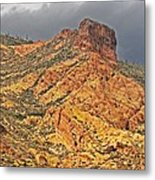 Yellow Colored Rock Along The Apache Trail Metal Print