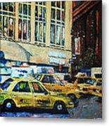 Yellow Congestion Metal Print