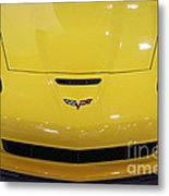 Yellow Corvette Metal Print