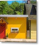 Yellow Cottage Metal Print