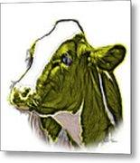 Yellow Cow Holstein - 0034 Fs Metal Print