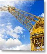 Yellow Crane And Sky Metal Print