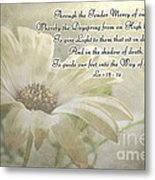 Yellow Daisy Photoart  With Verse Metal Print