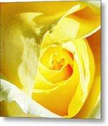 Yellow Diamond Rose Palm Springs Metal Print