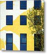Yellow Facade In Berlin Metal Print