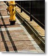 Yellow Fire Hydrant - Pittsfield - Massachusetts Metal Print