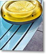 Yellow Float Palm Springs Metal Print
