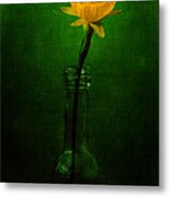 Yellow Flower In A Bottle I Metal Print
