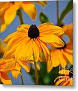 Yellow Flowers Metal Print
