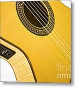 Yellow Guitar Metal Print