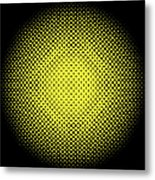 Optical Illusion - Yellow On Black Metal Print