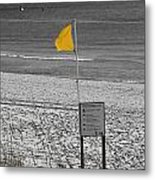 Yellow Hazard Metal Print