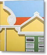 Yellow House Metal Print