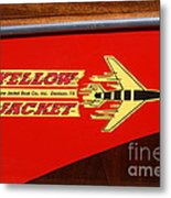 Yellow Jacket Outboard Boat Metal Print
