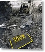 Yellow Metal Print by   Joe Beasley