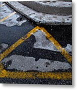 Yellow Lines 2  Metal Print