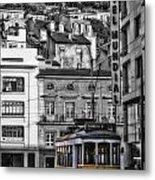 Yellow Lisbon Trolley Metal Print