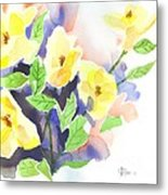 Yellow Magnolias Metal Print
