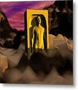 Yellow Monolith-large Metal Print