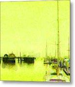 Yellow Mooring Metal Print