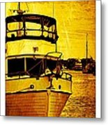 Yellow On The Water Metal Print