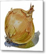 Yellow Onion Metal Print