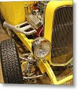 Street Car - Yellow Open Engine Metal Print