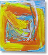 Yellow -orange  Window. Metal Print