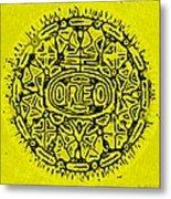 Yellow Oreo Metal Print