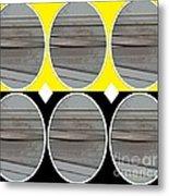 Yellow Oval Metal Print