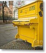 Yellow Piano Beethoven Metal Print