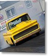 Yellow Pick Up Truck Metal Print