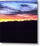 Yellow Pink Blue Skies Metal Print