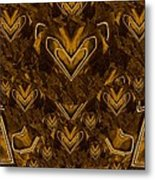 Yellow Pop Art Hearts Metal Print