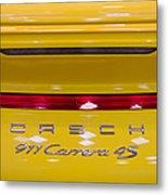 yellow Porsche Metal Print
