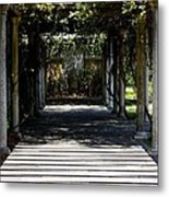 Yellow Rose Pergola Metal Print